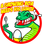 A Growing Boa Needs His Lunch – Logo